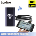 8MM WIFI Wireless USB Endoscope Borescope Camera Snake Tube Pipe Waterproof Inspection MINI Camera With 2M Cable For Android IOS