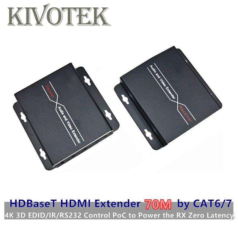 Émetteur-récepteur d'extension HDMI 60 M, émetteur/récepteur sur simple cat 5E/6,60 m, prise en charge 3D, 1080 P, contrôle IR bidirectionnel livraison gratuite