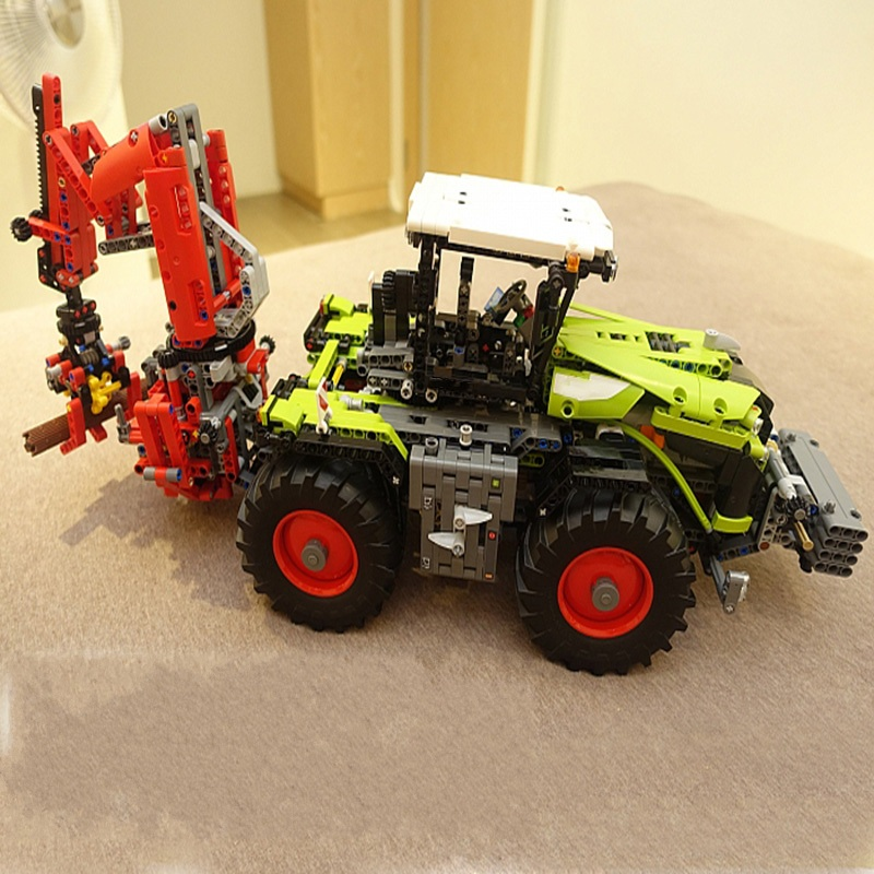 Lepin 20009 Truck building bricks blocks New year Gift Toys for children Model Car 42054 2017 new lepin 20009 1977pcs technic claas xerion 5000 trac vc model building kits blocks bricks compatible toys gift with 42054