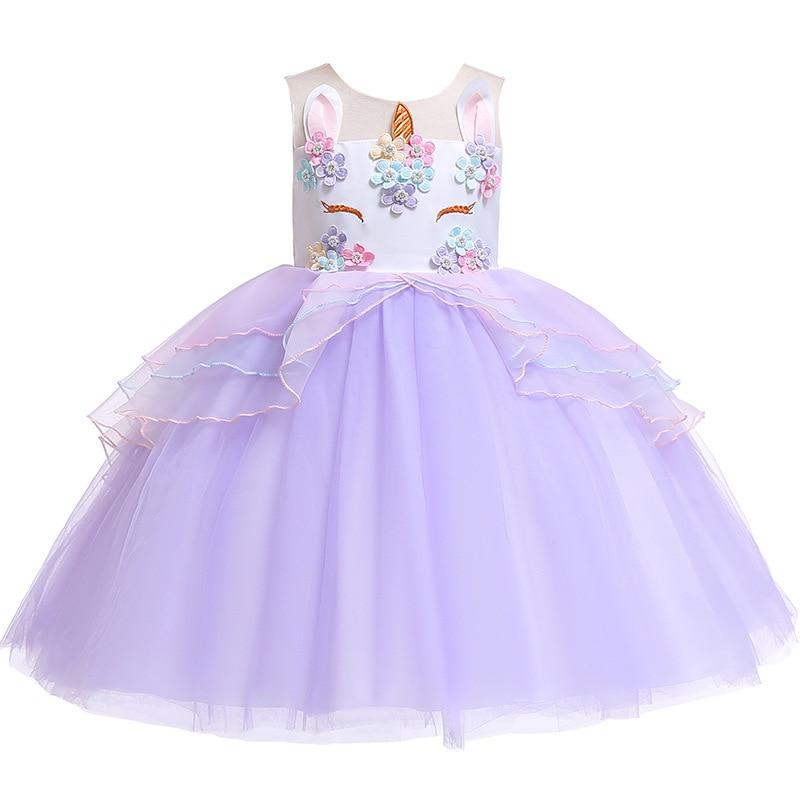 2019 Halloween Girls Princess dress Lace Tutu Unicorn Dress European American Children's dress Hot Girl birthday party dress