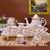12pieces European coffee set coffee cup English ceramic tea afternoon tea tea set family set pallet.