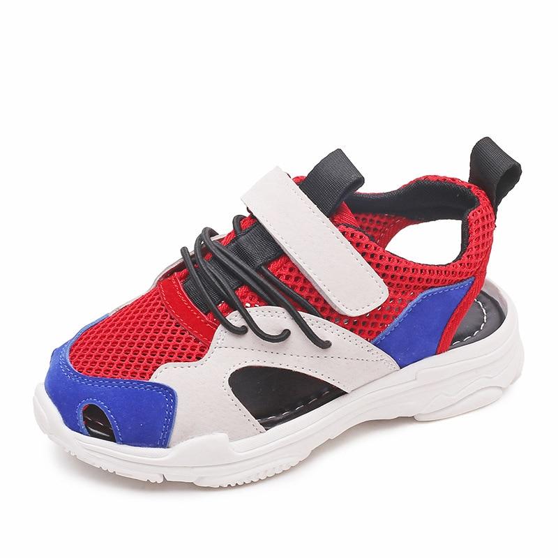New Summer Mesh Boys Sandals Mixed Colors Kids Beach Shoes Fashion Children Sandals Size 27-37