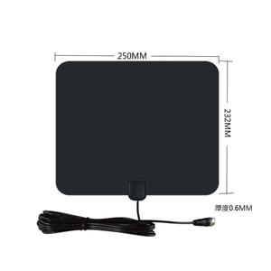 Image 3 - Vmade HD Digital Amplified TV Antenna 120 Miles Range TV ISDB ATSC DVB T DVB T2 TV Indoor Antenna for DVB T2 Satellite Receiver