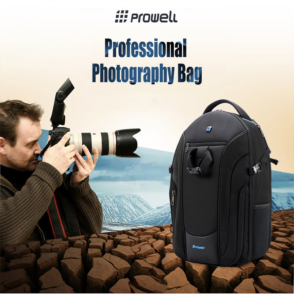 PROWELL DC21948 DSLR Camera Photography Bag Backpack Waterproof Camera Backpack чехол для lg g4 stylus h540 skinbox 4people черный