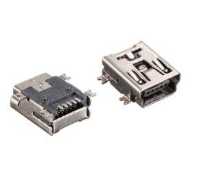 Image 1 - 1000 stks/tape & Reel Mini USB Connector 2.0 B F 5 Pin bakje Vrouwelijke haakse SMD/SMT Mount reflow soldeerbare Board gids