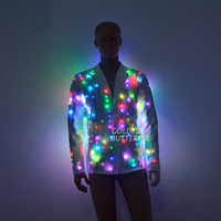LED Clothing Light jacket Luminous Costumes Glowing LED Suits Fashion Clothes Show Men battery led costume Dance Accessories