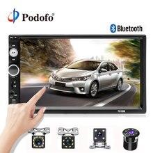"""Podofo 2 din Auto radio Multimedia Player 7 """"Lettore HD MP5 Touch Display Digitale Bluetooth USB 2din Autoradio Auto di Backup Monitor"""