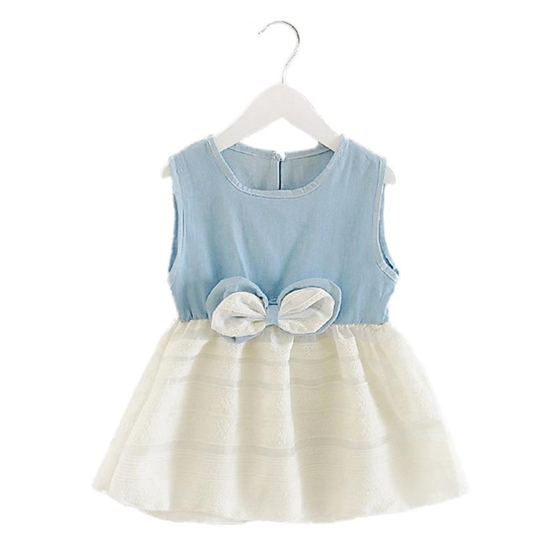 Děti Šaty Dívčí Dívčí Džíny Šaty Dětské Oblečení Letní Styl Oblečení Pro Dívky Bow Party Dovolená Šaty Vestido Infantil