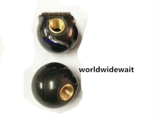 5Pcs M6 M8 Black Copper Core Round Ball Bakelite Lever Knob Screw On Type Machine Tool Replacement