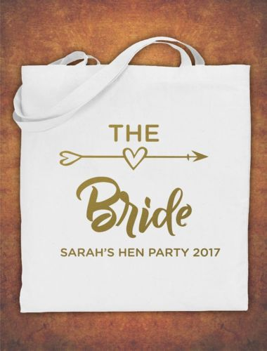 Wedding Role Favour Tote Bag Heart Shape Gift Hen Do Party Bride Tribe Team