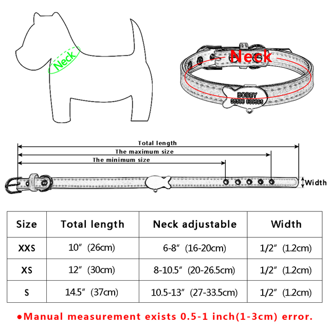 Customized Soft Padded Dog Collar Personalized Cat ID Tag Free Engraving Name Phone No. Gift Bell For Puppy Dogs Cats Pink