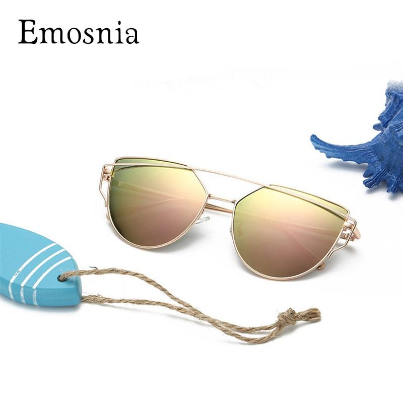 Emosnia Mode Kinder Polarisierte Sonnenbrille Jungen Mädchen Marke Designer Spiegel Cateye Sonnenbrille Retro Kinder Sonnenbrille Uv400 AusgewäHltes Material