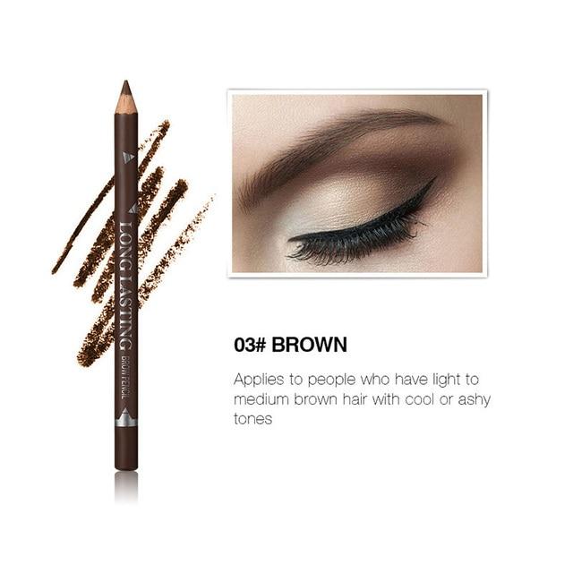 MENOW 3 Colors Black Eyeliner Pencil for Women Waterproof Brown Eyebrow Eye Liner Pencils Makeup Tools Wholesale & Dropshipping 5