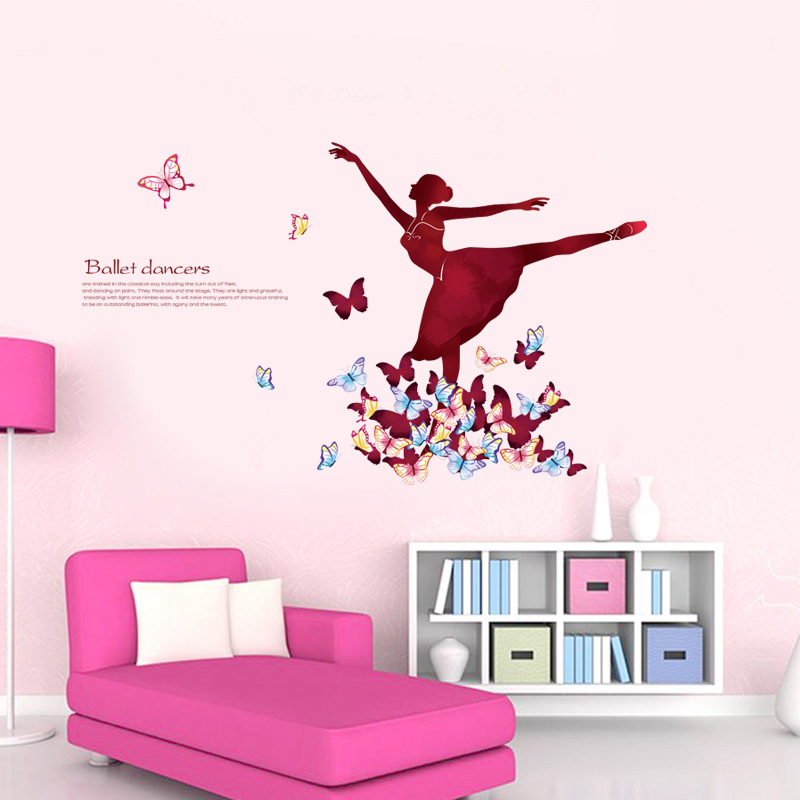 Online get cheap ballerine filles chambre - Stickers muraux chambre fille ...