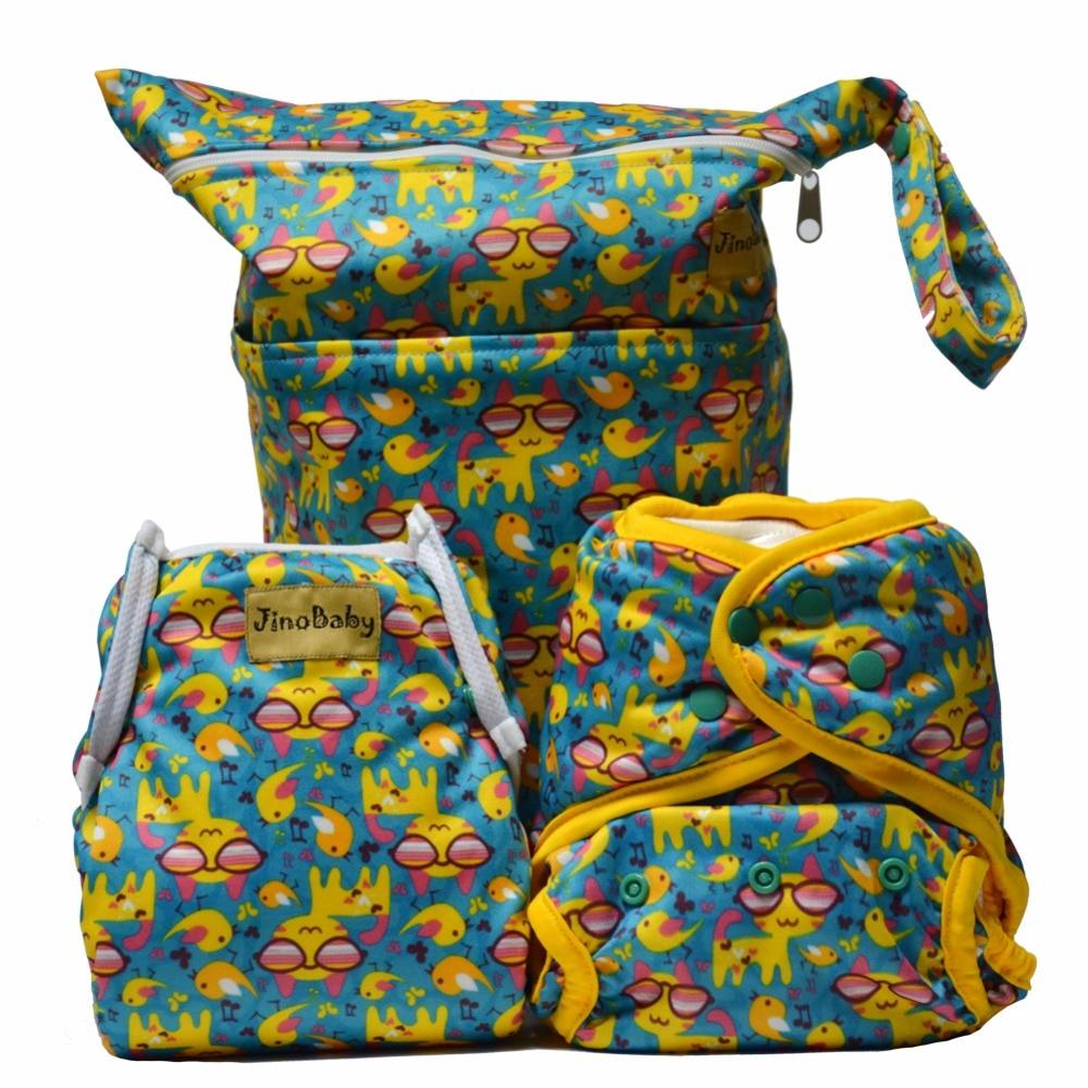 Cool Kittens Purrrrfect O.N.E. Bamboo Cloth Diapers (Bamboo Washable Diapers+Swim Diaper+Diaper Bag)