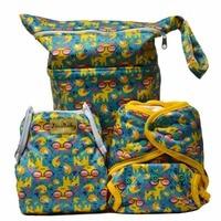 Cool Kittens Purrrrfect O N E Bamboo Cloth Diapers Combo Bambu Diaper Swim Diaper Wet Bag