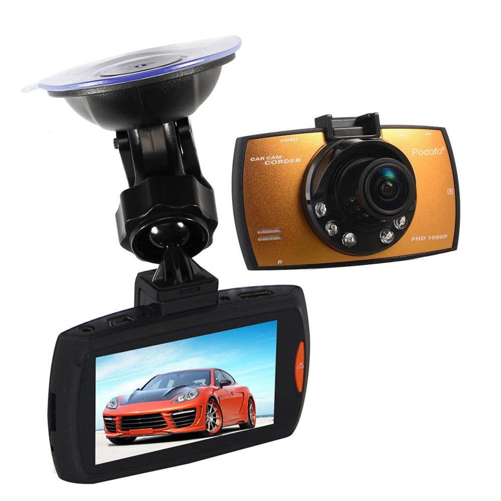 Aliexpress com buy podofo car camera g30 full hd 1080p 2 7 car dvr recorder motion detection night vision g sensor 32gb dvrs dash cam black box from
