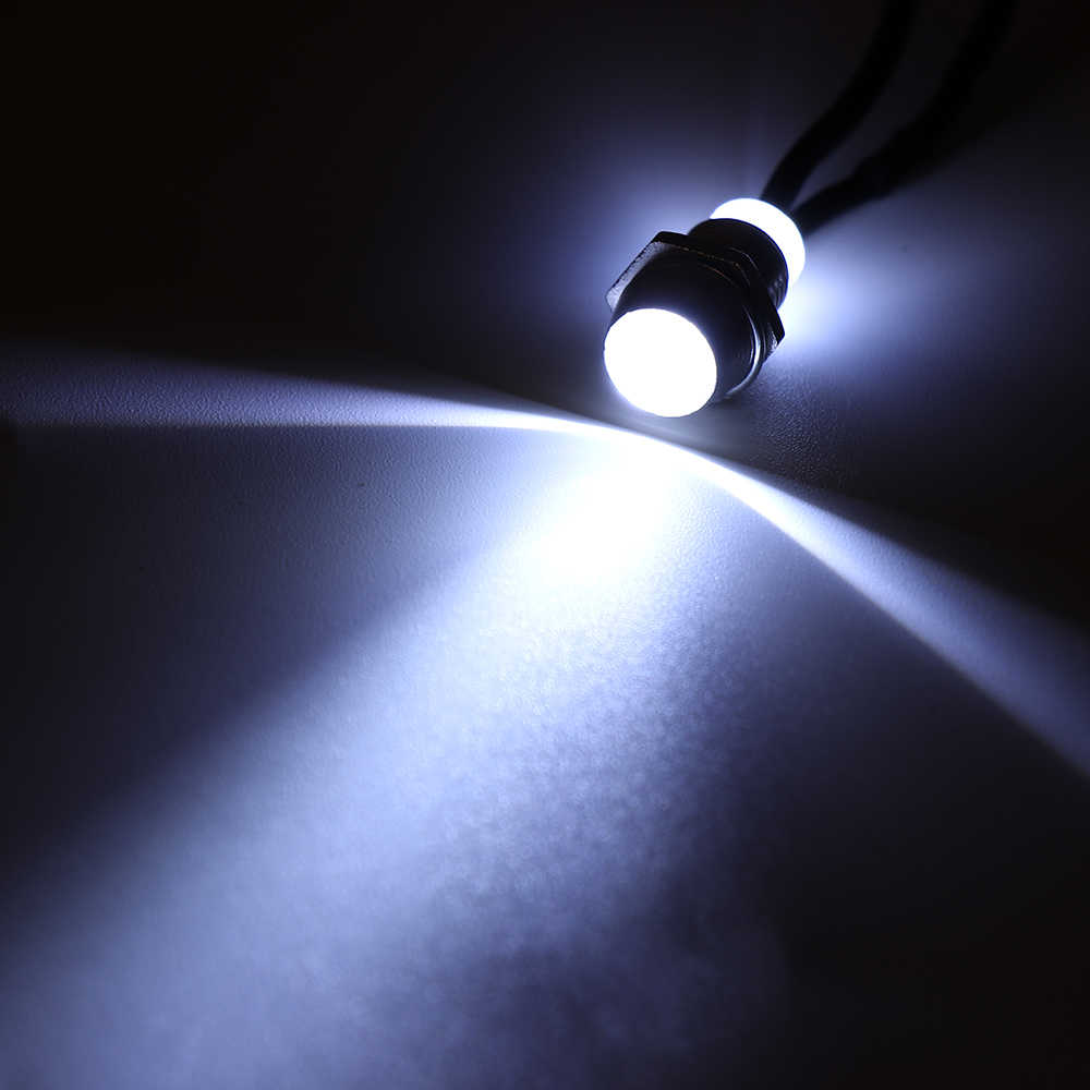 1 PC 8 Mm 12 V DC Chrome Tahan Air Lampu LED Panel Pilot Dash Mobil Van Perahu Peringatan Dashboard Sinyal lampu Instrumen Pilot Lamp