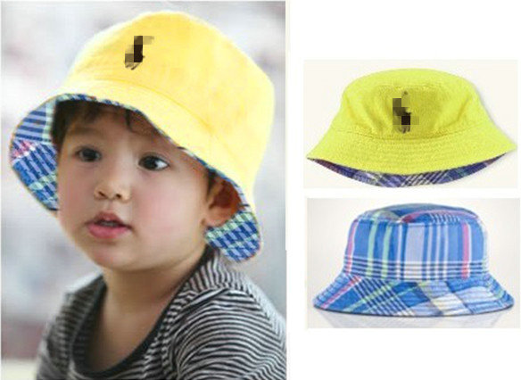 Retail Baby bucket hat Fashion brand PO   fishing cap boy girl sun hat Kids  travel beach caps visor child hats   caps-in Hats   Caps from Mother   Kids  on ... 7f8418067e6