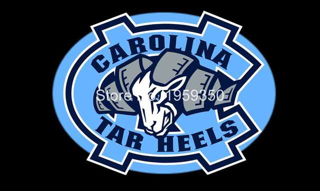North Carolina Tar Heels Logo Flag 90x150cm Metal Grommets 3x5 Feet