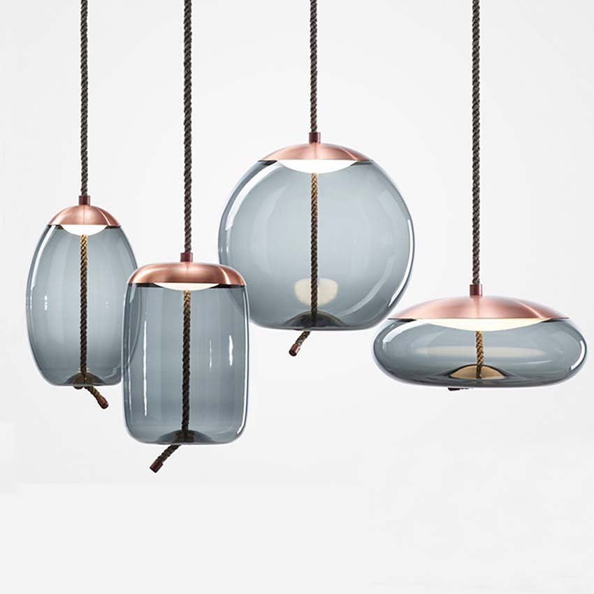 Scandinavian Glass Pendant Lights Nordic Stained Glass