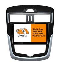 otojeta big screen car DVD player radio headunit tape recorder for NISSAN 2011 TIIDA Top Level android 8.1 multimedia stereo