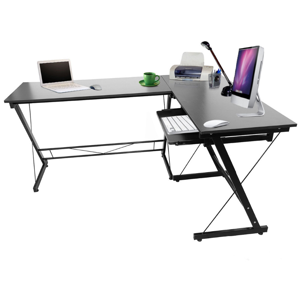 office workstations desks. (Ship From US) Black Wood L Shape Corner Computer Desk PC Laptop Home Office Workstation Study Student Table -in Tool Parts Tools On Workstations Desks