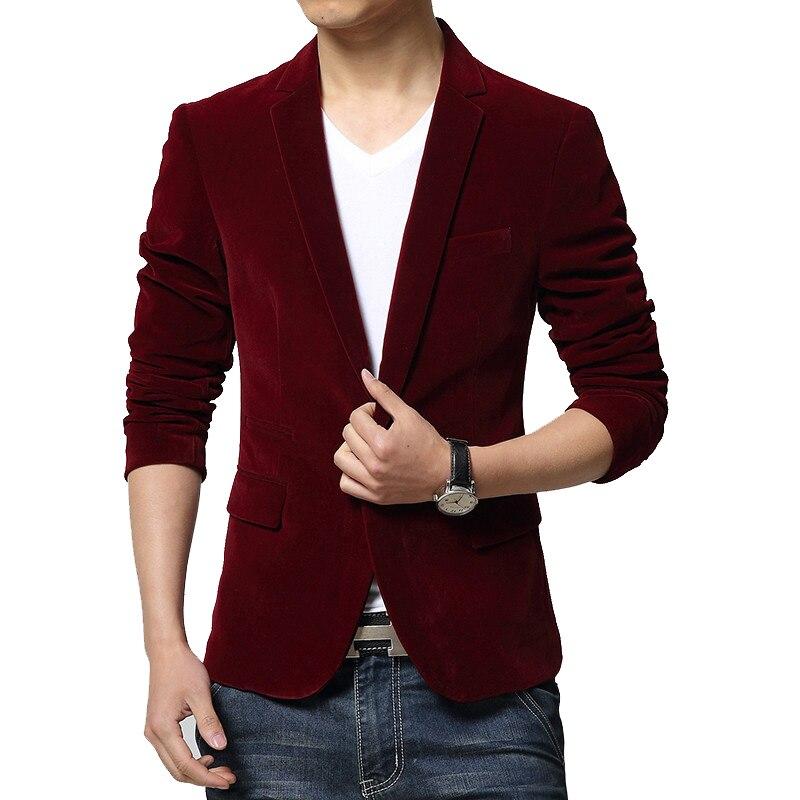 BROWON ยี่ห้อใหม่แฟชั่นที่ไม่ซ้ำกัน Mens Blazer สไตล์ผู้ชาย Corduroy Single ปุ่ม Notched COLLAR Blazers ชาย 2019-ใน เสื้อเบลเซอร์ จาก เสื้อผ้าผู้ชาย บน AliExpress - 11.11_สิบเอ็ด สิบเอ็ดวันคนโสด 1