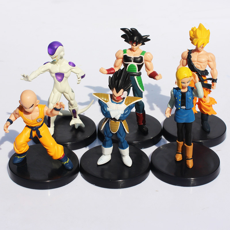 Dragon Ball Z PVC Figures Son Goku Burdock Vegeta Frieza Freezer Krillin Android 18 Figures Toys 12cm 6pcs/set Free Shipping