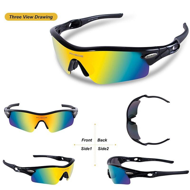 Prix pour RIVBOS De Protection Lunettes de Sport Hommes Femmes Courir Vélo Lunettes Lunettes 5 lentilles Polarisées Gafas Oculos Ciclismo 2017 New