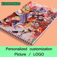 Custom Sketchbook A4 Draw This Graffiti Notebook Personalized Custom Printed Image LOGO Photo on the cover