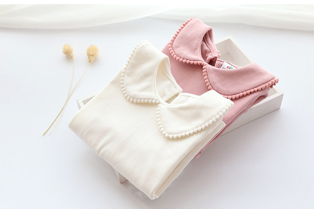 2018 Spring Autumn 2-10 Years Old Baby Children'S Clothing Long Sleeve Solid Pure Color Cute Cartoon Kids Girls Basic T Shirts (13)