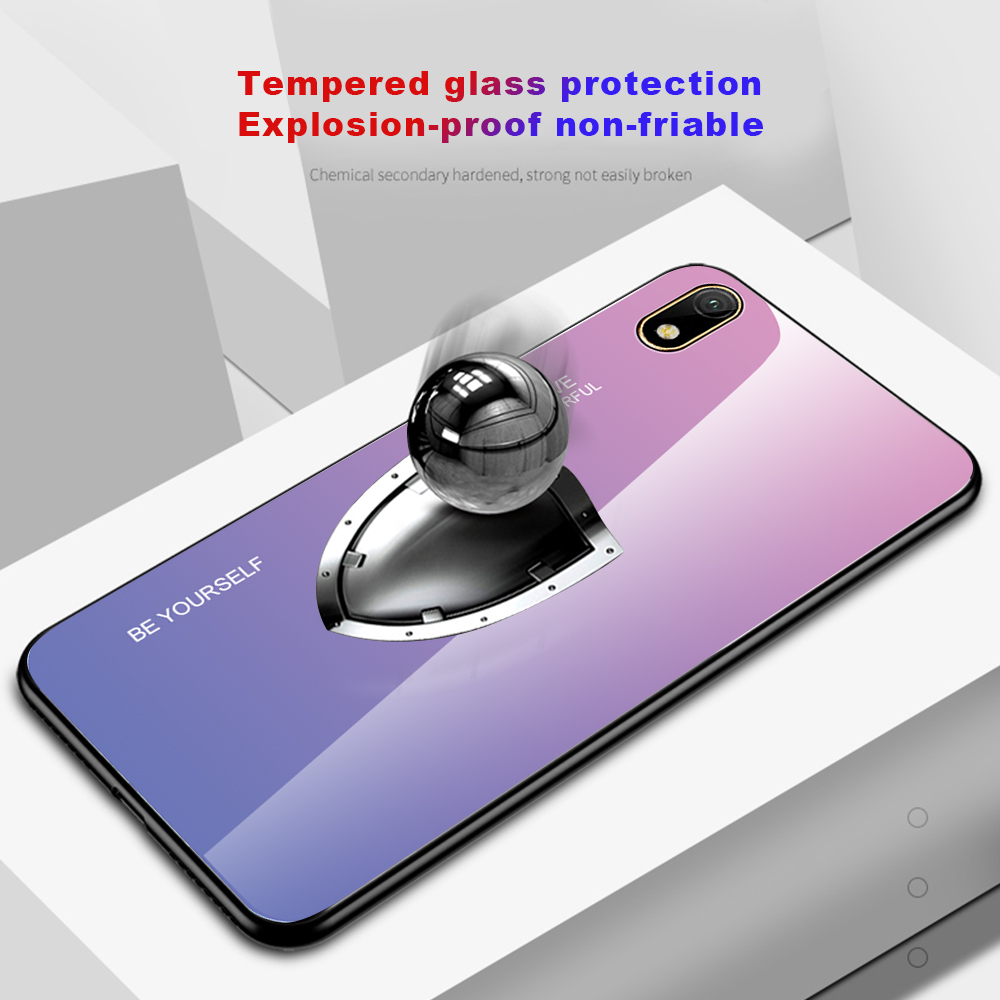 Image 5 - Gradient Tempered Glass Case For Huawei Y5 2019 Case Honor 8s Case Shockproof Glossy Cover for Huawei Y5 Prime 2018 Glass Cover-in Fitted Cases from Cellphones & Telecommunications