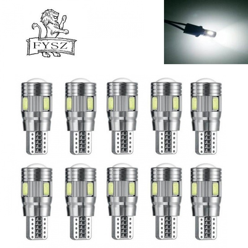 5Pcs  LED T10 3W 5733 6-SMD 6000K Cars From Canbus Led Light-Emitting Diodes Independent Bulb No Errors Univ era Auto Lamp