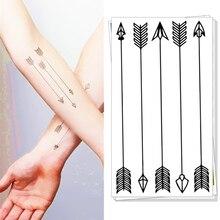 M-Theory Temporary Tatoos Body Art, Small Bow Arrows , Flash Tattoos Keep 3-5 Days 10.5x6cm Swimsuit Bikini Dress Makeup