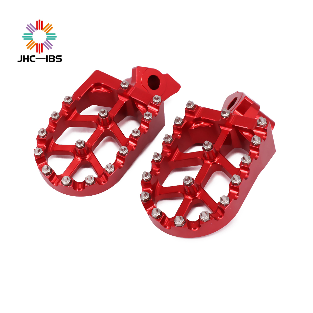 Motorcycle Aluminum FootRest Footpegs Pedals For HONDA Yamaha CR125 CR250 CR500 YZ125 YZ250 WR400 CR YZ WR 125 250 500 400