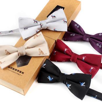 Modne męskie dzianiny krawaty akcesoria dla mężczyzn muszki krawaty męskie piękny wzór Bird Bowtie tanie i dobre opinie YUANXIANGPO Moda Rayon Dla dorosłych WOMEN Muszka Zwierząt Jeden rozmiar JY1943 Chiny (kontynentalne) cartoon Collar tie