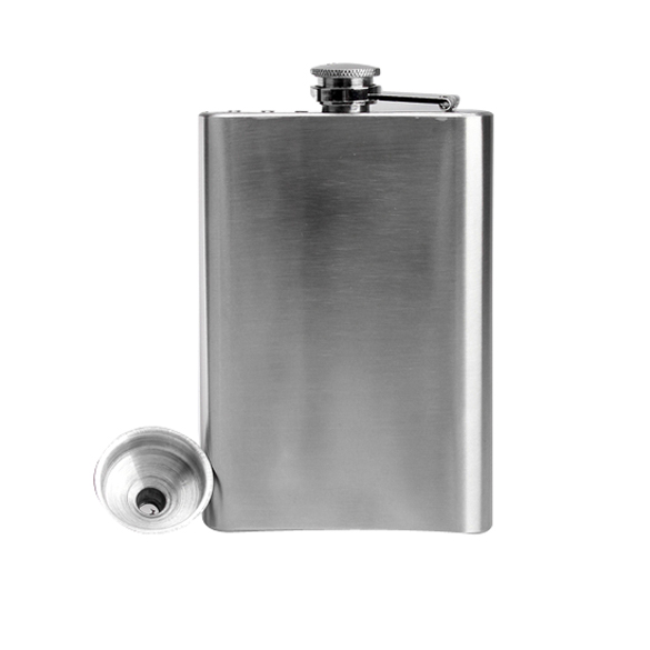 Hip Drink Liquor Whisky Alcohol Flask Screw Cap Funnel Cap Steel LXY9