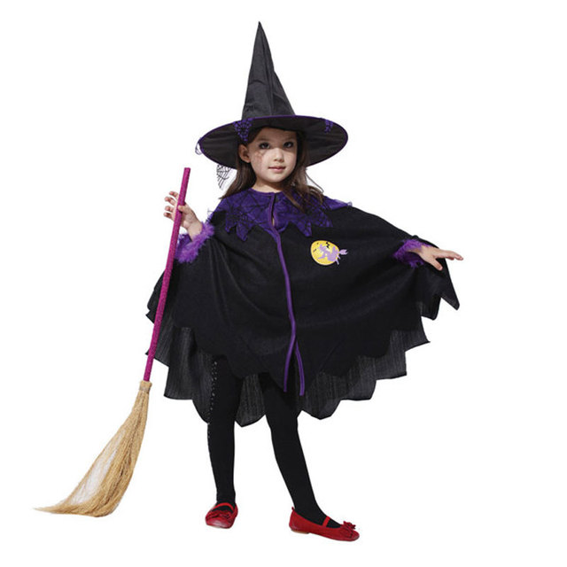 72315cede96 Umorden Halloween Costumes for Baby Girl Toddler Kids Sorceress Witch  Costume Cosplay Fancy Dress Cape