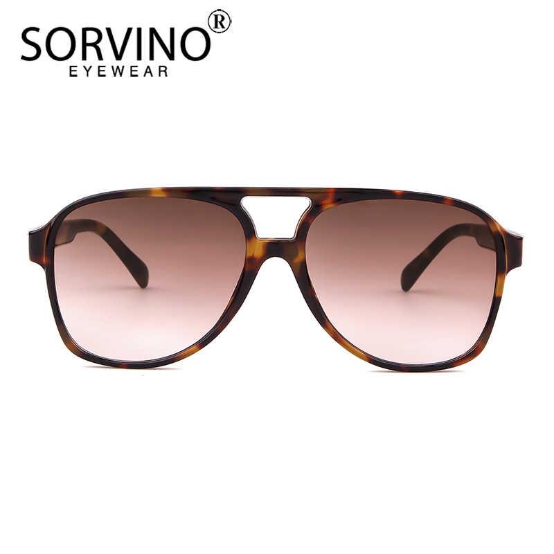 fdaa83f7197d ... SORVINO Vintage Designer Pilot Men Sunglasses Women 2018 High Quality  90s Crystal Oversized Square Sun Glasses ...