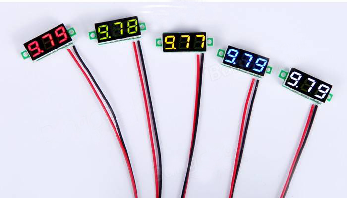 5Pcs/lot Mini 0.28 Inch 2.5V-30V Mini Digital Voltmeter Voltage Tester Meter Red/Yellow/Green/ 5 Colors In Stock Free Shipping