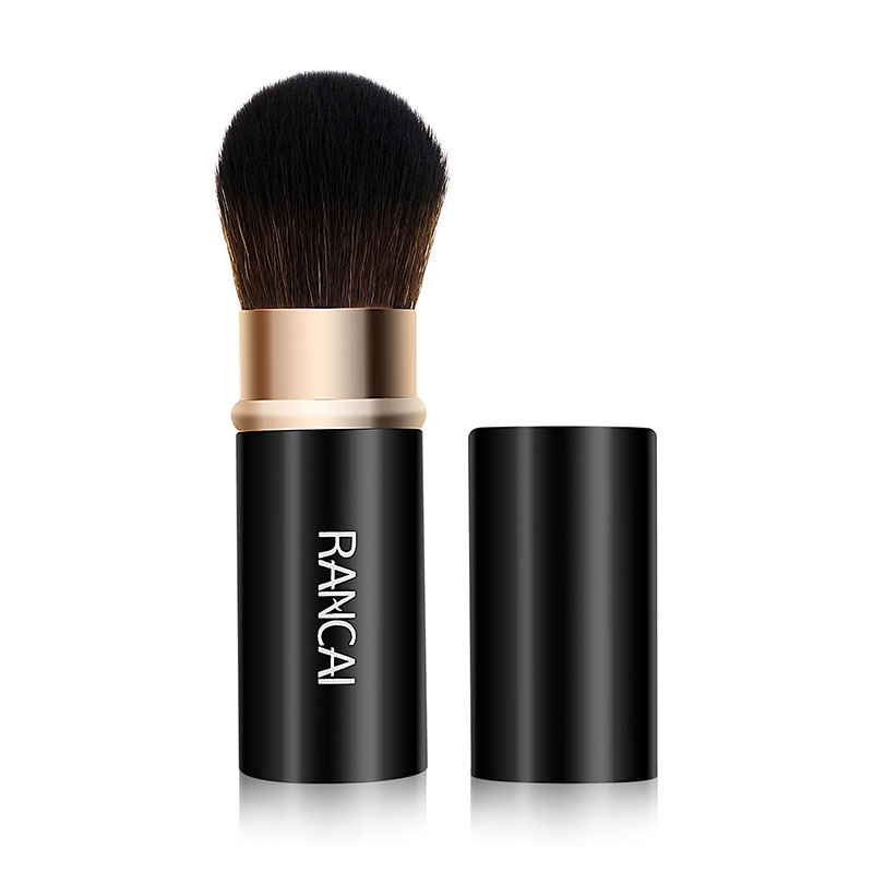 RANCAI 1pcs Retractable Makeup Brush Powder Foundation Blending Blush Kabuki Highlighter Bronzer Brushes Maquiagem Cosmetic Tool