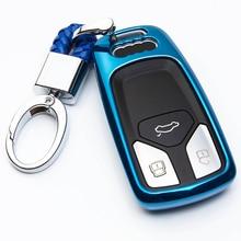TPU רכב סטיילינג רך TPU חכם כיסוי מקרה עבור אאודי A4 חדש A4L A5 A6L QT S5 S7 Q7 TTS אוטומטי הגנת מפתח אביזרי פגז