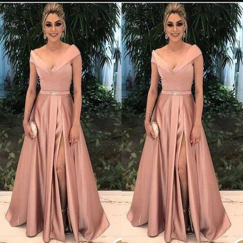 Elegant Mother Of The Bride Dresses For Weddings 2019 Party Gowns A-Line Vestido De Madrinha Formal Evening Dress Godmother