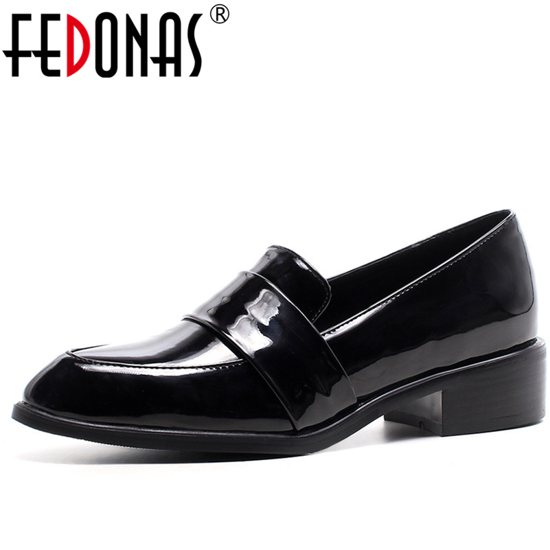 FEDONAS Brand Women Flats Shoes Spring New Slip On Loafers Buckle Pointed Toe Shoes Woman Casual Flats Black Office Shoes xiaying smile flats shoes women boat shoes spring summer office casual loafers slip on pointed toe shallow rubber women shoes