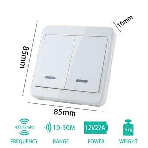Image 5 - KTNNKG interruptor de luz RF 433Hz interruptor de Control remoto inalámbrico 90 260V Luz de lámpara receptor de interruptor remoto inalámbrico de pared se vende separat