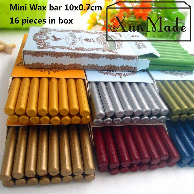16 pièces haute qualité Mini étanchéité cire bâton rétro joint timbre Vintage cire bâton Sellado Sax palillo sello de la cera haute qualité