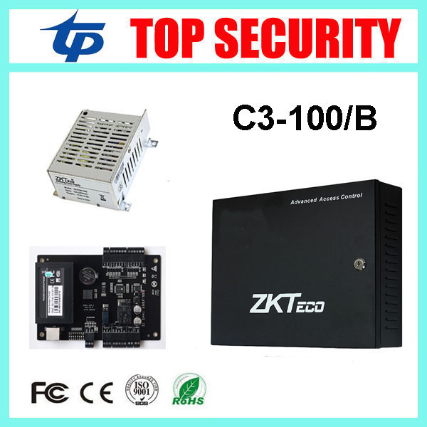 ZK C3-100 door access control system with battery function power supply box TCP/IP 1 door access control panel with free SDK
