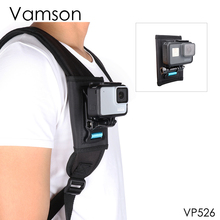 Vamson for DJI OSMO Action camera accessories backpack clip 360 degree rotatable mounting bracket Base gopro 7 6 5 4 VP526