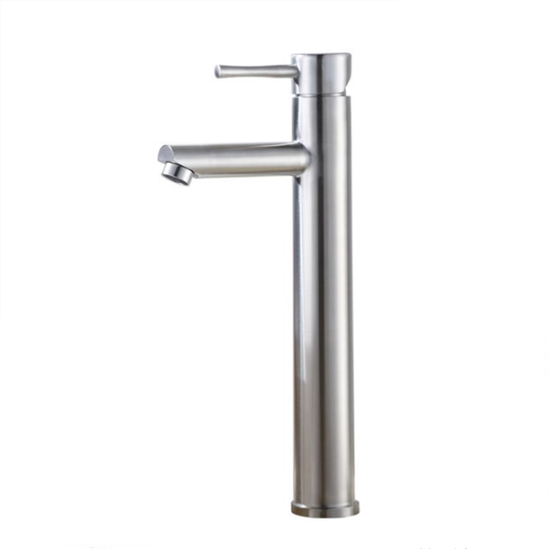 Bathroom Cold and Hot Water Faucet Mixer Water Sink 304 Stainless Steel Basin Faucet Tall Basin Mixer Tap Brush Finished Bathroom Cold and Hot Water Faucet Mixer Water Sink 304 Stainless Steel Basin Faucet Tall Basin Mixer Tap Brush Finished